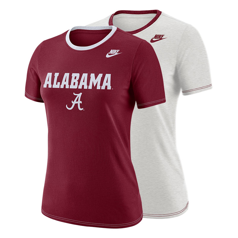 Alabama Women's Nike Dri-Fit Cotton Crew Shirt With Script A (SKU 13312336158)
