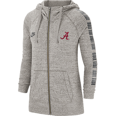 Roll Tide Alabama Script A Vintage Gym Full Zip Jacket