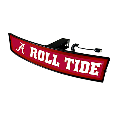 Alabama Roll Tide Light Up Curved Hitch Coer