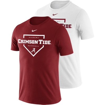 Alabama Men's Nike Dri-Fit Cotton Baseball Plate T-Shirt