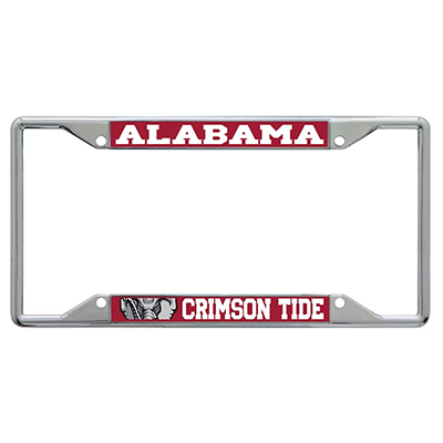 Alabama Crimson Tide Printed License Tag Frame