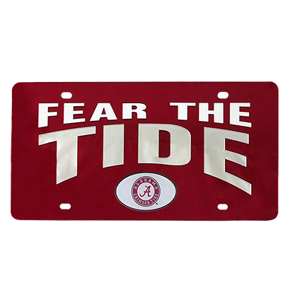 Fear The Tide Acrylic License Plate