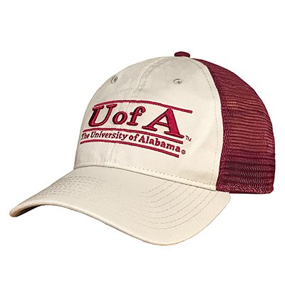 U Of A Bar Cap Mesh Back 2 Tone
