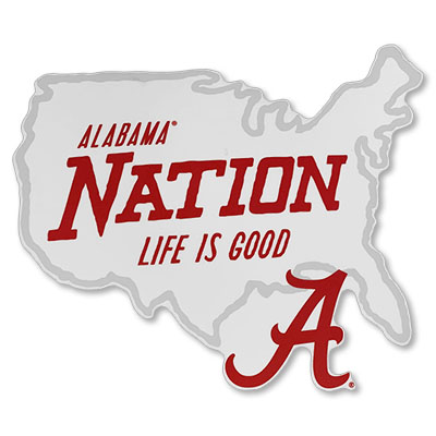 Alabama Nation Life Is Good Perfect Cut Decal