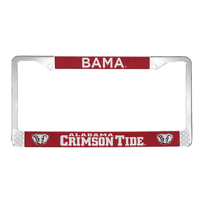 Bama With Crimson  Tide License Plate Frame