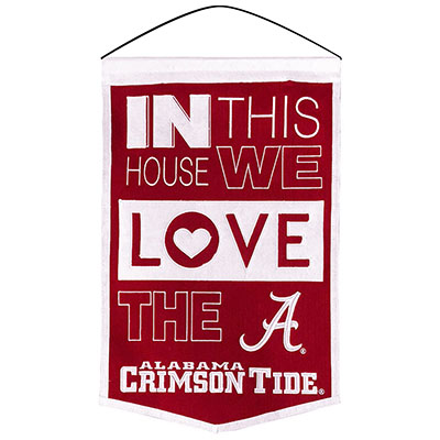 In This House We Love Alabama Banner