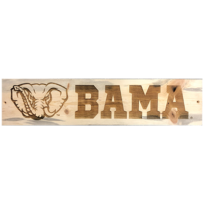 Elephant With Bama Blue Pine Sign