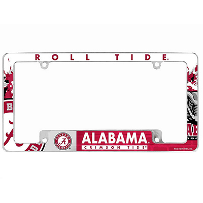 Alabama Roll Tide Chrome License Tag Frame