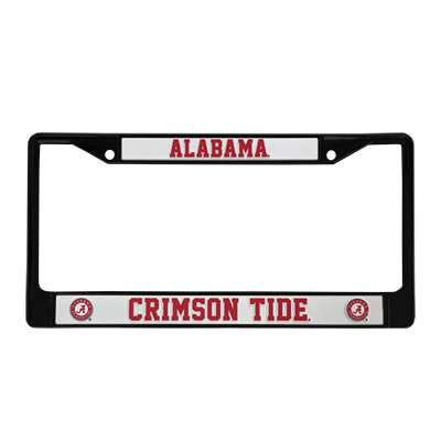 ALABAMA CRIMSON TIDE CHROME LICENSE TAG FRAME