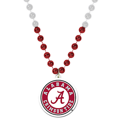 Alabama Script A Logo Sports Beads With Athletic Seal Medallion