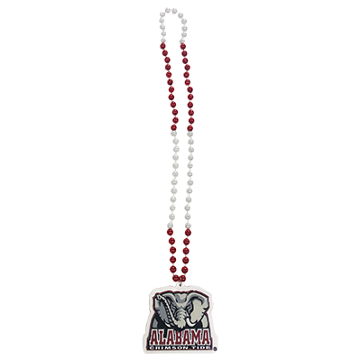 Alabama Sports Beads With Elephant Head Medallion