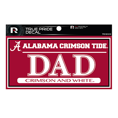 Alabama Crimson Tide Dad True Pride Decal