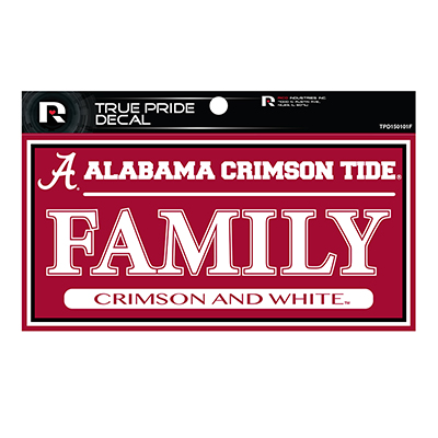 Alabama Crimson Tide Family True Pride Decal