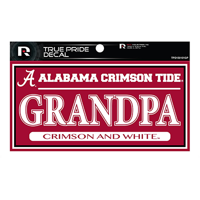 Alabama Crimson Tide Grandpa True Pride Decal