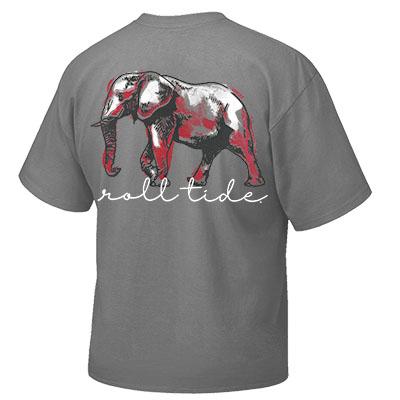 ALABAMA ELEPHANT ROLL TIDE T-SHIRT WITH POCKET
