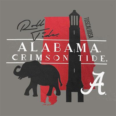 ALABAMA CRIMSON TIDE T-SHIRT WITH POCKET
