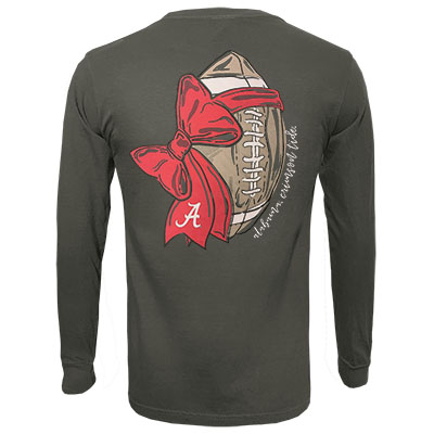 ALABAMA GAMEDAY BOW LONG SLEEVE T-SHIRT