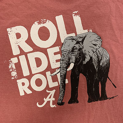 ROLL TIDE ROLL WITH ELEPHANT LONG SLEEVE T-SHIRT