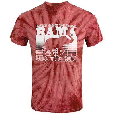 Alabama Crimson Tide Football Tye Dye T-Shirt