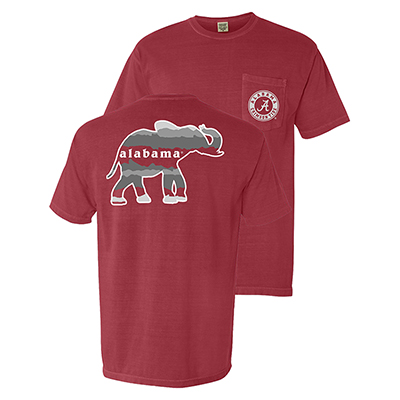 Alabama Horizon Elephant T-Shirt With Pocket