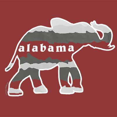 ALABAMA HORIZON ELEPHANT T-SHIRT WITH POCKET