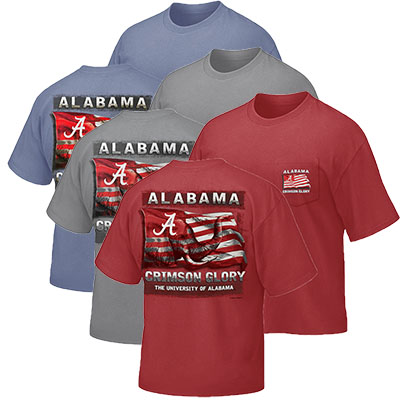 Alabama Crimson Glory T-Shirt With Pocket