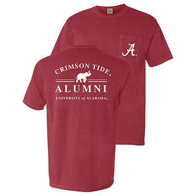 University Of Alabama Crimson Tide Alumni T-Shirt With Pocket