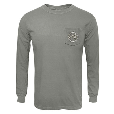 ALABAMA CRIMSON TIDE VINTAGE CIRCLE LONG SLEEVE POCKET T-SHIRT