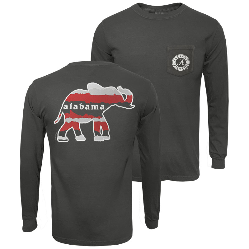 Alabama Horizon Elephant Long Sleeve Pocket T-Shirt (SKU 13318840102)