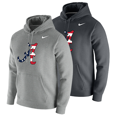 Alabama Nike Americana Script A Club Fleece Hoodie