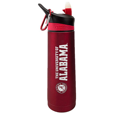 University Of Alabama Stainless Steel Bottle With Carabiner Clip