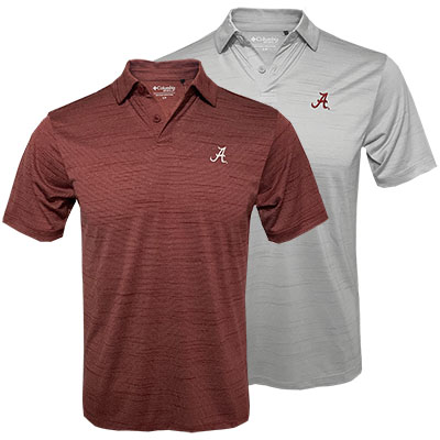 Columbia Omni-Wick Set Alabama Polo With Script A