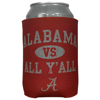 Alabama Vs All Y'all Can Coozie
