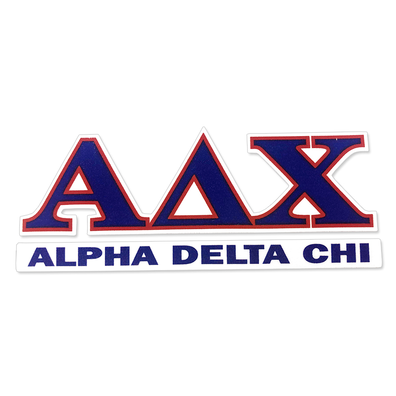 Alpha Delta Chi  Greek Letter Decal (SKU 13324551206)