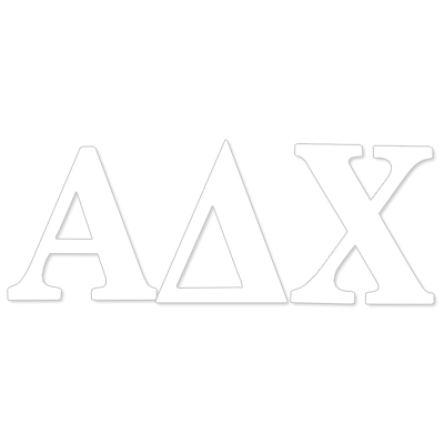 Alpha Delta Chi  Greek Letter Decal