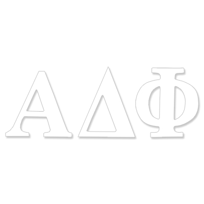 Alpha Delta Phi  Greek Letter Decal