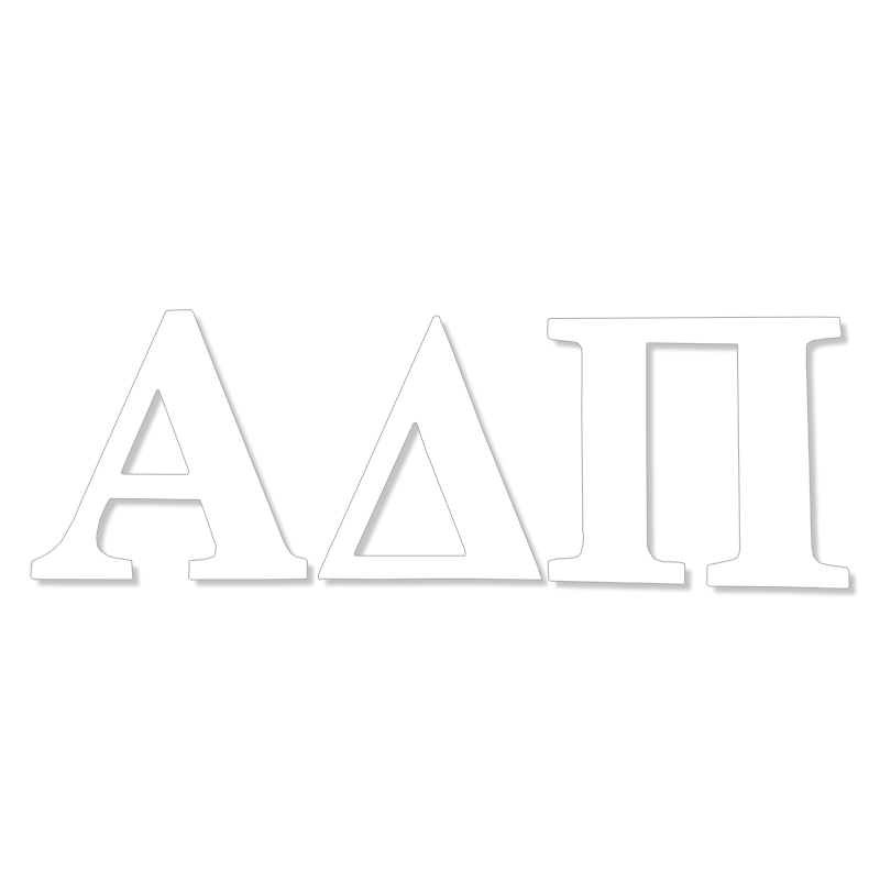 Alpha Delta Pi  Greek Letter Decal (SKU 13324704206)