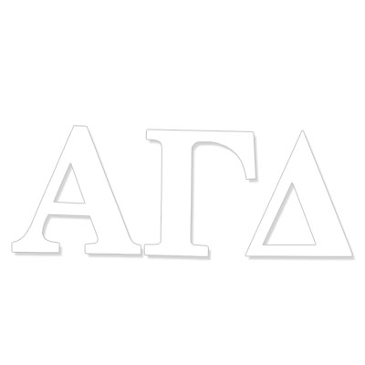 Alpha Gamma Delta  Greek Letter Decal