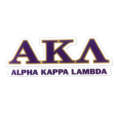 Alpha Kappa Lamdba Greek Letter Decal