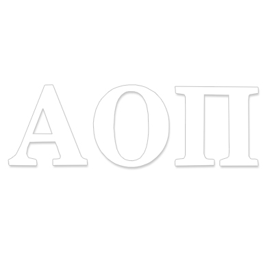 Alpha Omicron Pi Greek Letter Decal