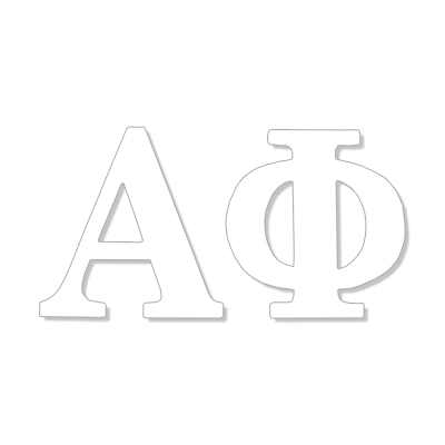 Alpha Phi Greek Letter Decal