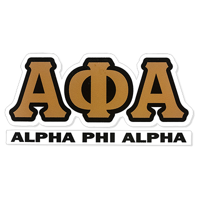 Alpha Phi Alpha Greek Letter Decal