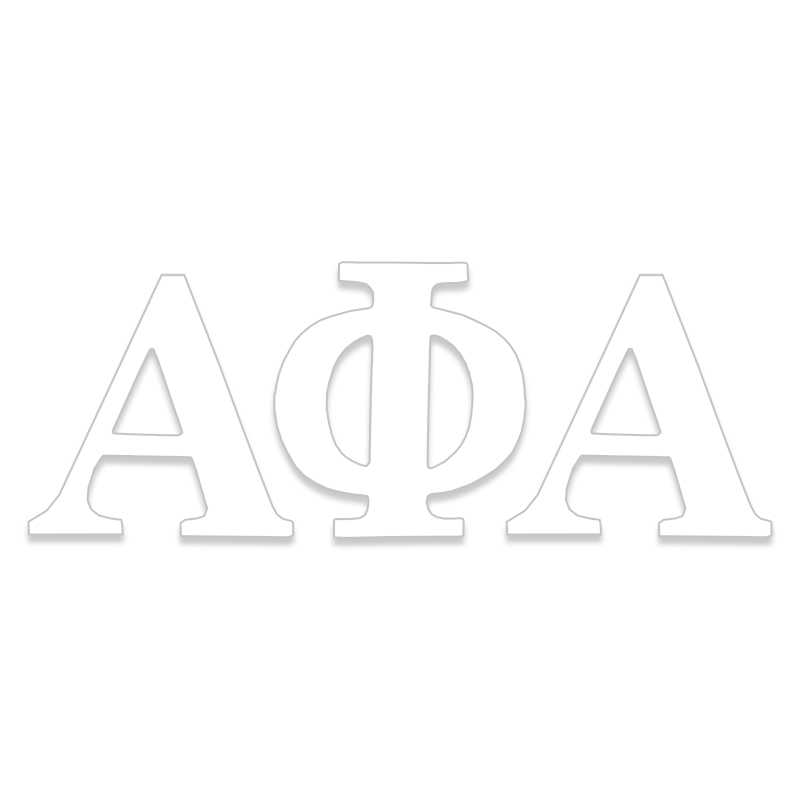 Alpha Phi Alpha Greek Letter Decal (SKU 13325008206)
