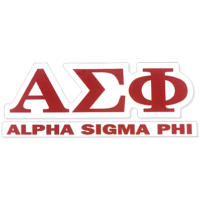 Alpha Sigma Phi Greek Letter Decal