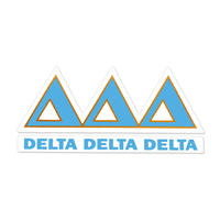 Delta Delta Delta Greek Letter Decal