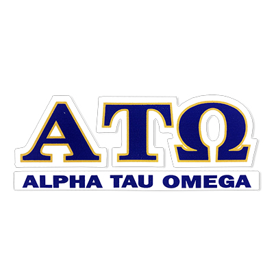 Alpha Tau Omega Greek Letter Decal