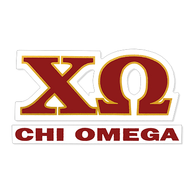 Chi Omega Greek Letter Decal