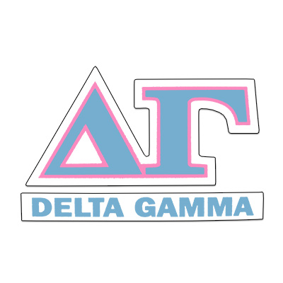 Delta Gamma Greek Letter Decal