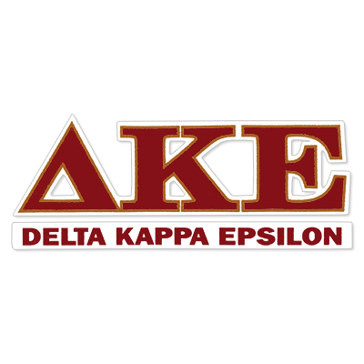 Delta Kappa Epsilon Greek Letter Decal
