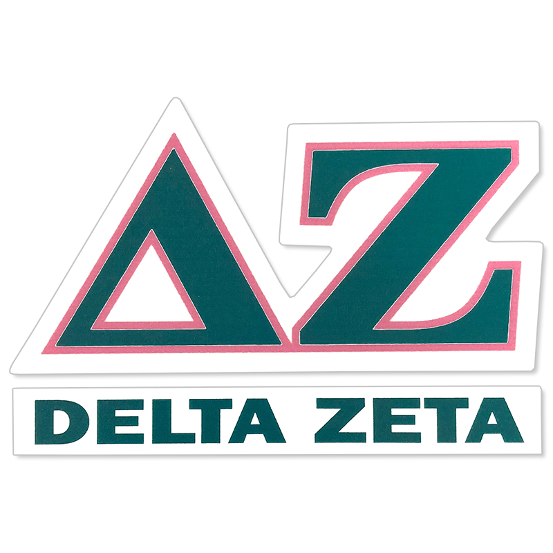Delta Zeta Greek Letter Decal (SKU 13325688206)